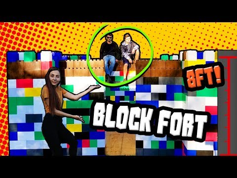 WE MADE A FORT OUT OF BLOCKS! (How Big Could We Make It?)