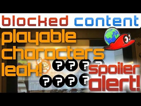 SPOILER ALERT! Playable Characters LEAK in Super Mario Odyssey!! (Rumor)
