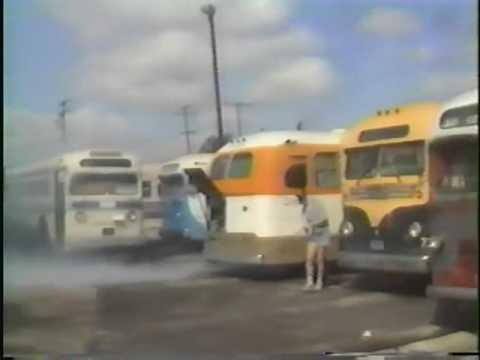 West Coast Motor Coach Society Bus Museum Yard Move La Puente March 02,1990 part 2