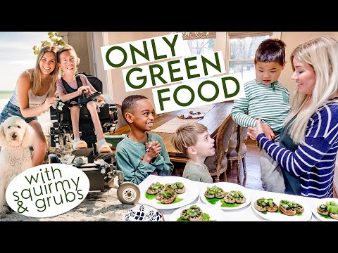 EATING ONLY GREEN FOOD?! ☘️ *hilarious collab with @Squirmy and Grubs* // St Patrick's Day