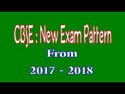 CBSE New Examination Pattern 2017 - 2018 onward class 10, new exam scheme class 10