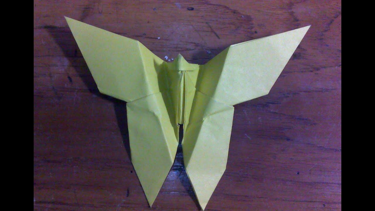 cara membuat origami origami binatang kupukupu youtube