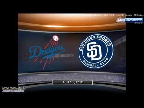 Los Angeles Dodgers - San Diego Padres. MLB2K12
