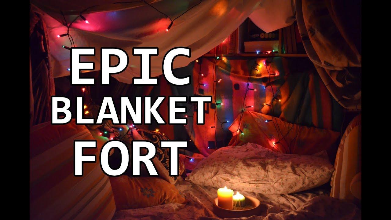 building a blanket fort