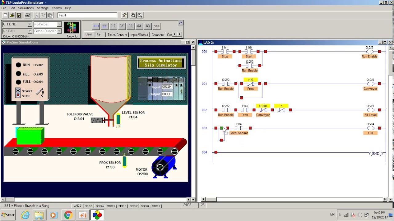 khmer logixpro silo simulator ladder logic by chhay