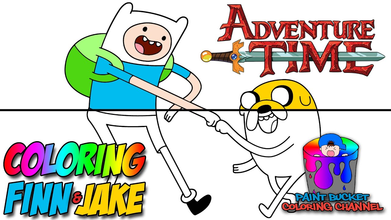 how to color finn and jake adventure time coloring page - Adventure Time Coloring Pages Jake