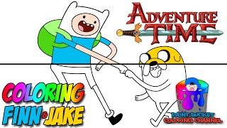 How to Color Finn and Jake - Adventure Time Coloring Page
