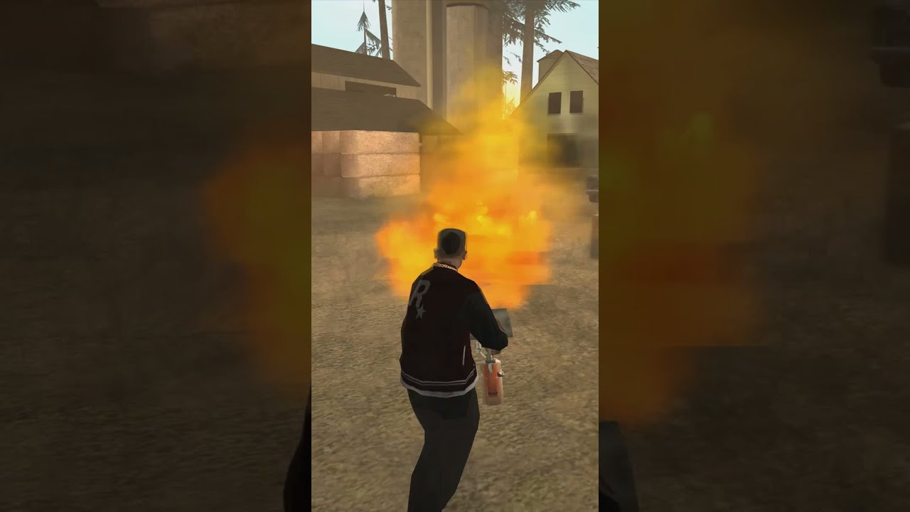 Helicopter takedown with a BIKE: GTA San Andreas #shorts