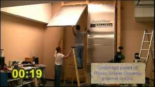 Stormshear Hurricane Awning And Hidden Shutter System Demo Video.
