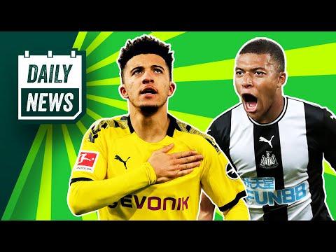 Jadon Sancho HAT-TRICK + EPL legend wants Mbappe at Newcastle! ► Daily News
