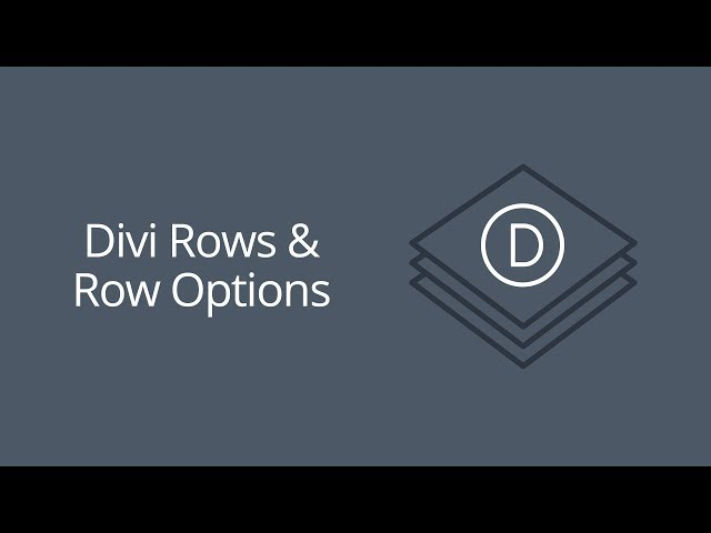 Divi Rows & Row Options