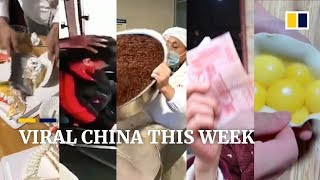 Viral China this week: Man uses meat cleaver to cut cakes and more