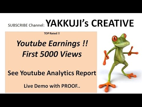 Youtube Analytics 2017 | 5000 Views | Youtube earnings per view | Youtubers Paycheck | SEO