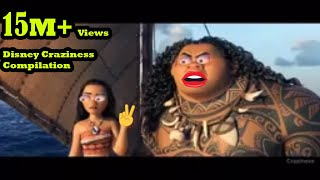Download lagu Disney Craziness Compilation #23 Moana Craziness Try not to Laugh Challenge new Moana Ytp