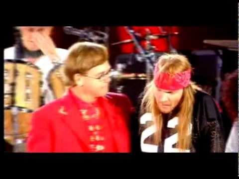 Queen - Elton John & Axl Rose - Bohemian Rhapsody - (Freddie Mercury Tribute Concert)