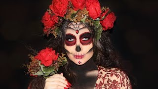 Sugar Skull Halloween Makeup | Melissa Samways