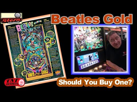#1454 Stern BEATLES GOLD new Pinball Machine & Comparisons to SEA WITCH -TNT Amusements