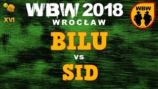 bitwa BILU vs SID # WBW 2018 Wrocław (1/8) # freestyle battle