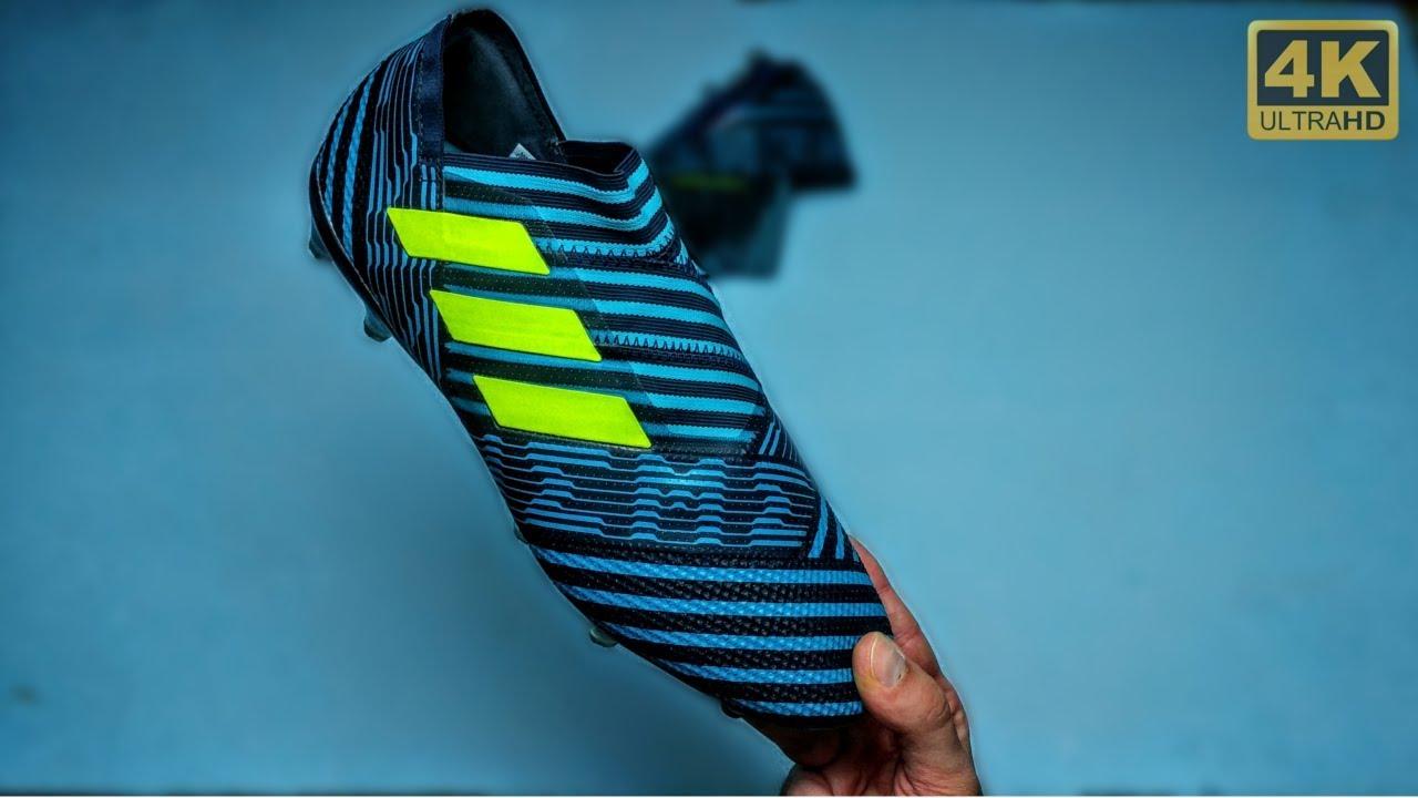 Lionel Messi Adidas NEMEZIZ 17+ Ocean Storm Boots: Unboxing 4K HD By Pirelli7