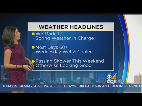 WBZ Morning Forecast For April 24