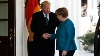 President Donald Trump Greets Angela Merkel Chanceller of Germany at The White House!!!