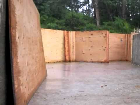 Stripping plywood on our concrete project youtube for Plywood wall sheathing