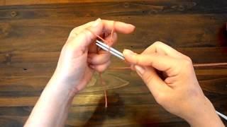 Курс вязания. Урок 1. Простой набор петель