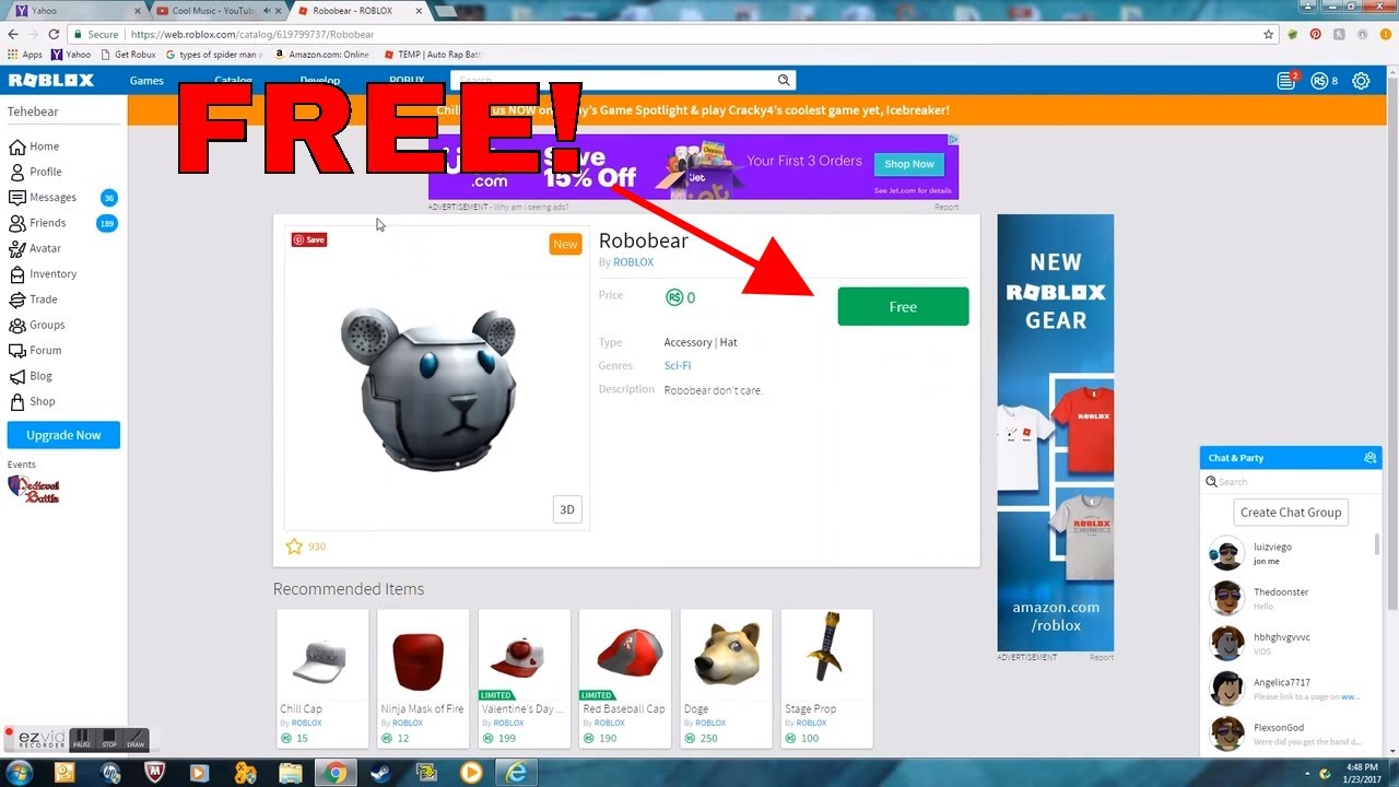 How to free stuff from da catalog
