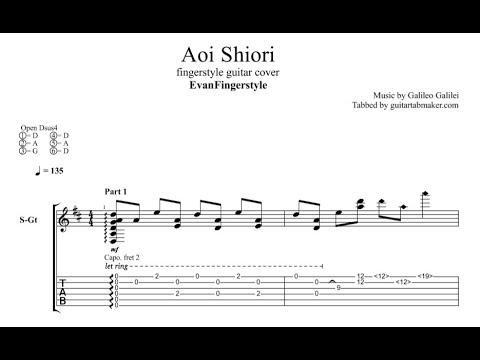 Aoi Shiori TAB - acoustic fingerstyle guitar tab - PDF ...  Fingerstyle