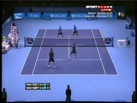 Paes, Stepanek vs Bhupathi, Bopanna - ATP Masters Cup London 2012. Set 3 (bojan svitac)