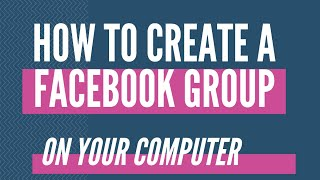 how to create a facebook group on computer - Facebook Tutorial