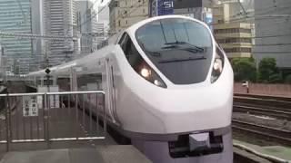 常磐線E657系特急ときわ69号勝田行新橋駅通過※警笛あり