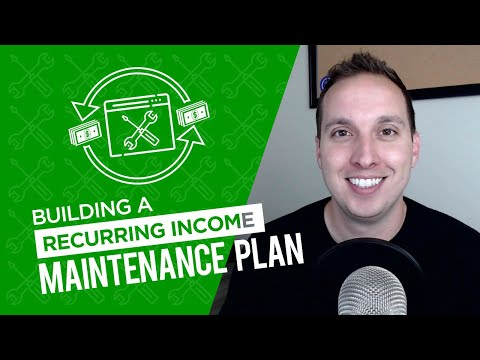 Building a Recurring Income Website Maintenance Plan
