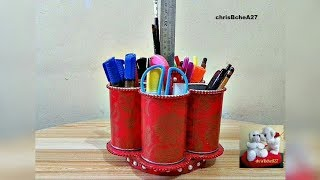 DIY#68 Rotating Organizer - My Own Idea Without Stick From Recycled