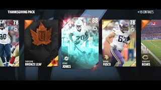 THANKSGIVING PROMO PACKS! Madden 16 Ultimate Team Pack Opening