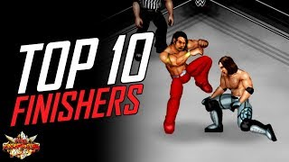 FPWW PS4 - Top 10 WWE Finishers! (Fire Pro Wrestling World PlayStation 4)