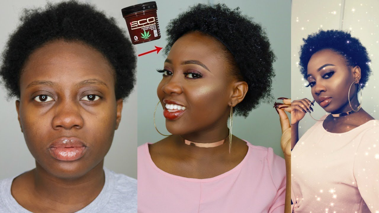 Quick Wash And Go Short 4c Natural Hair New Eco Styler Cannabis Sativa Gel Youtube