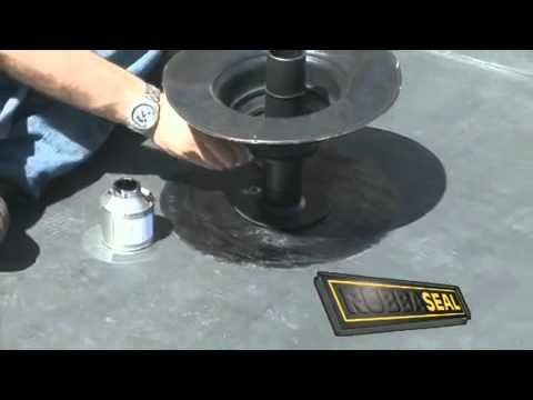 Triflex Waterproofing Rainwater Outlets And Roof Pene