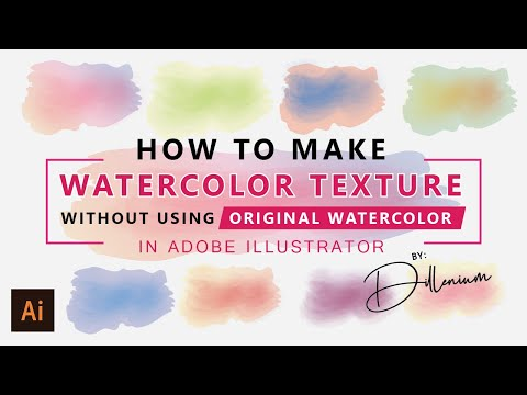 Watercolor Illustration - How to Make Watercolor in Illustrator Without Using Watercolor Texture