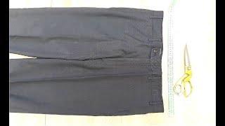 Как ушить мужские брюки в поясе