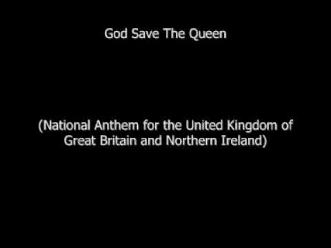 UK National Anthem  God Save The Queen with lyrics