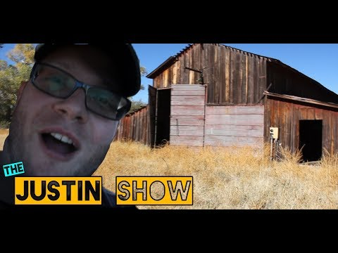 The Justin Show - Exploring a SPOOKY abandoned Farm (Drone Exploration DJI SPARK)