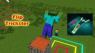 - monster school Flip Trickster Challenge part 1 Minecraft Animation
