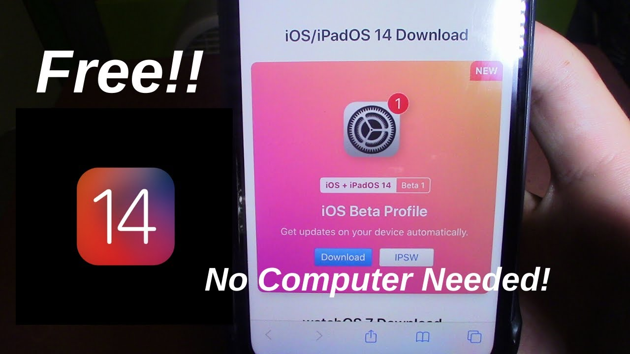 How to get iOS 14 for free! No Computer Needed!