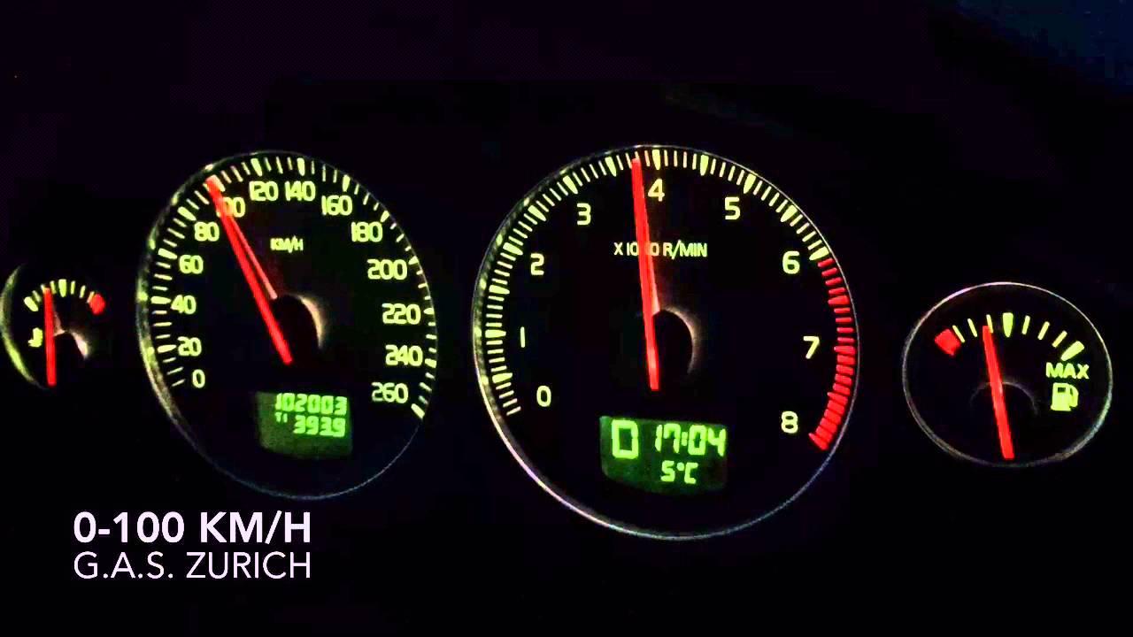 Volvo Xc90 2 5t Awd 0 100 Km H Acceleration