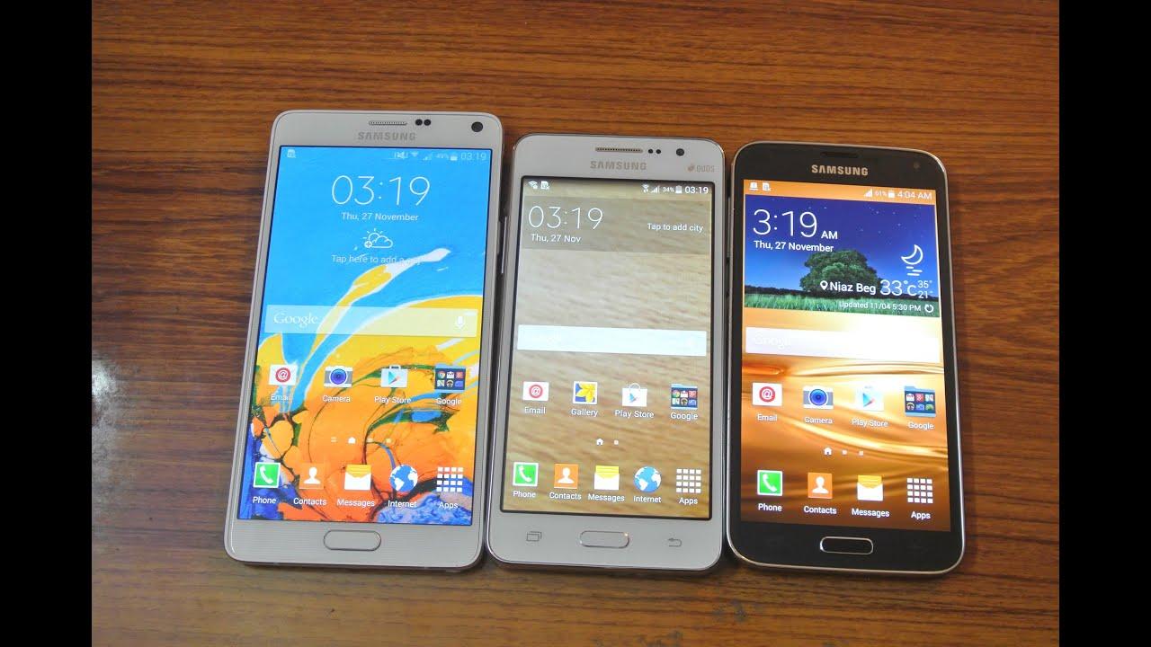 Samsung Galaxy Note 4 vs Samsung Galaxy Grand Prime vs ...