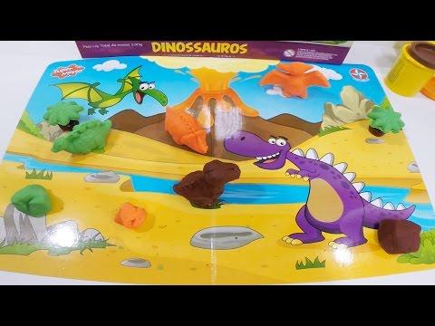 Super Massa Dinossauros Estrela Brinquedos Massinhas Coloridas para Brincar