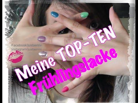Meine Top 10 Frühlings-Nagellacke ♥ Nagellacksammlung 2014 ♥ TOP TEN Nagellacke By Justänni