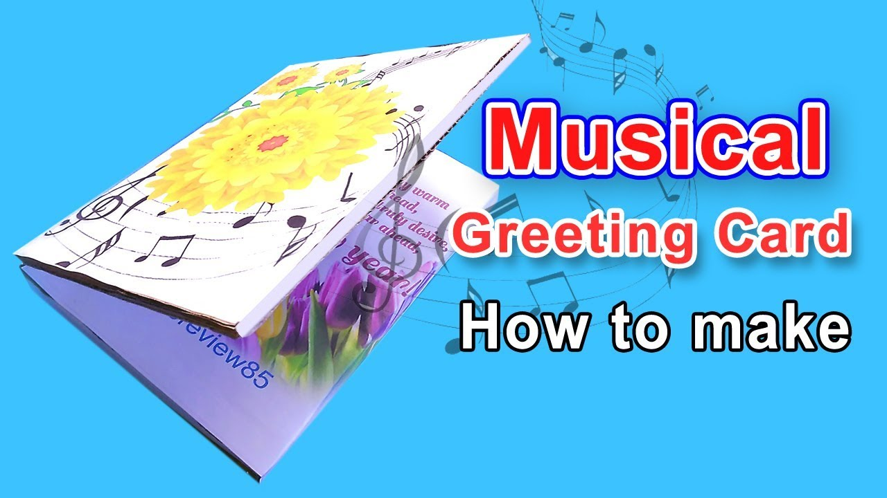 How to make musical greeting card at home youtube how to make musical greeting card at home kristyandbryce Choice Image