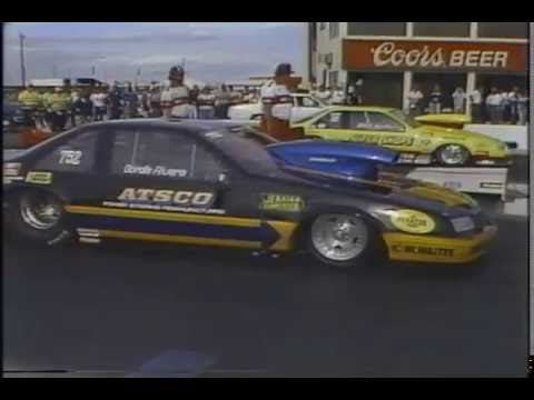 Drag Racing 1990 NHRA Arizona Nationals PRO STOCK Semi Finals